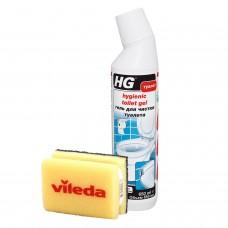 """Гель для чистки туалета 650мл + Губка для посуды VILEDA """"Глитци"""" (арт.321060161/1 + арт. 506076)"""
