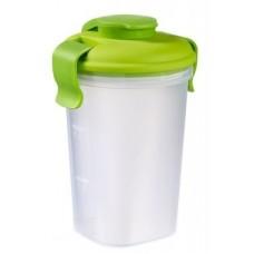 Контейнер Lunch&Go большой зеленый прозрачный