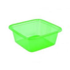 Миска квадратная 4,5л зеленая