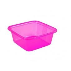 Миска квадратная 7,2л розовая