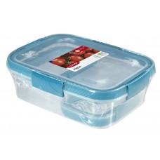 Набор контейнеров Fresh 2шт 0,2л+1шт 1л прозрачный/голубой
