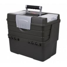 Ящик для мастерской вертикальный графитовый/серебристый