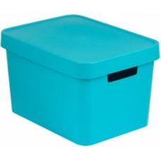 Коробка Infiniti с крышкой 17 л синяя