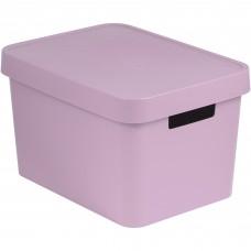 Коробка Infiniti с крышкой 17 л розовая