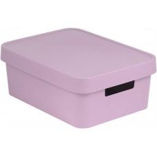 Коробка Infiniti с крышкой 11 л розовая