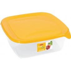 Набор контейнеров для хран. пищ. прод. квадрат Fresh&go 3x0,8л желт/прозр