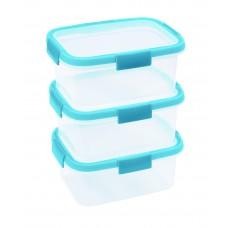 Набор контейнеров Fresh 3*1,2л прозрачный/голубой