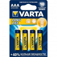 Батарейка 4шт VARTA LONGLIFE 4 AAA  LR03