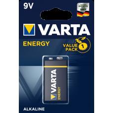 Батарейка 1шт VARTA ENERGY 9V 6LR3146 (крона)