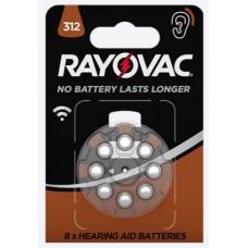 Батарейка для слуховых аппаратов Rayovac HAB 312 Blister 8