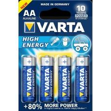 Батарейка 4шт VARTA HIGH ENERGY 4 AA 1.5V LR6