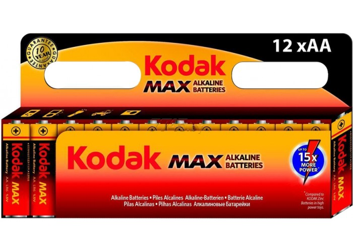 Батарейка Kodak MAX LR6 AA (12шт. в упаковке)