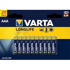 Батарейка VARTA LONGLIFE 20 AAA в коробке 20шт LR03