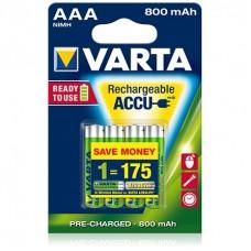 Аккумуляторы Rechargeable Accu 3+1 AAA 800 mAh R2U (блистер, 4 шт)