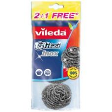 """Спиральная губка """"Инокс"""" VILEDA, 2+1 шт."""