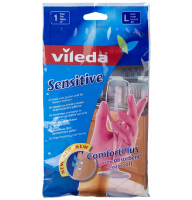 Перчатки VILEDA тонкие большие (L)