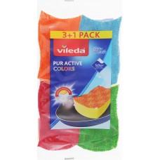 Набор губок VILEDA PurActive (разноцветные)